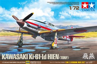 Tamiya Japanese Ki-61-LD Hien Fighter Kit 1/72 60789Glue and paints are required to assemble and complete the model (not included)