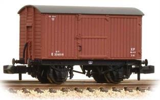 A detailed model of the LNER standard type wood body ventilated box van painted in early BR bauxite liveryEra 4. Length 43mm.