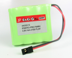 Energ-Pro  4.8v 2100mAh Ni-Mh RX Battery Pack Flat with Universal Plug 4405515