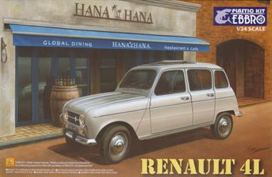 EBBRO 1/24 Renault 4L CarThis kit assemble's into a satisfying model of this popular French car.