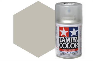Tamiya AS16 Light Grey USAF Synthetic Lacquer Spray Paint 100ml AS-16Tamiya AS Spray paint, much like the TS Sprays, are meant for plastic models. These spray paints are specially developed for finishing aircraft models. Each color is formulated to provide the authentic tone to 1/32 and 1/48 scale model aircraft. now, the subtle shades can be easily obtained on your models by simple spraying. Each can contains 100ml of synthetic lacquer paint.