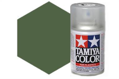 Tamiya AS14 Olive Green USAF Synthetic Lacquer Spray Paint 100ml AS-14Tamiya AS Spray paint, much like the TS Sprays, are meant for plastic models. These spray paints are specially developed for finishing aircraft models. Each color is formulated to provide the authentic tone to 1/32 and 1/48 scale model aircraft. now, the subtle shades can be easily obtained on your models by simple spraying. Each can contains 100ml of synthetic lacquer paint.