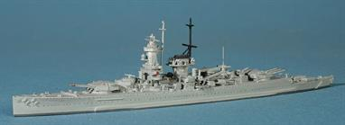 "An exquisitively detailed die-cast metal model of the famous German 'Pocket' battleship sent to patrol in the Atlantic before the start of WW2, her raiding came to an end at the Battle of the River Plate.The length of the model is 5.9"" which is quite aptly the size of the ships secondary armament."