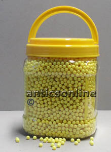 3PSA  10000 6mm Lightweight Pot of Softair Yellow BB Pellets POT10KNOM12YELL