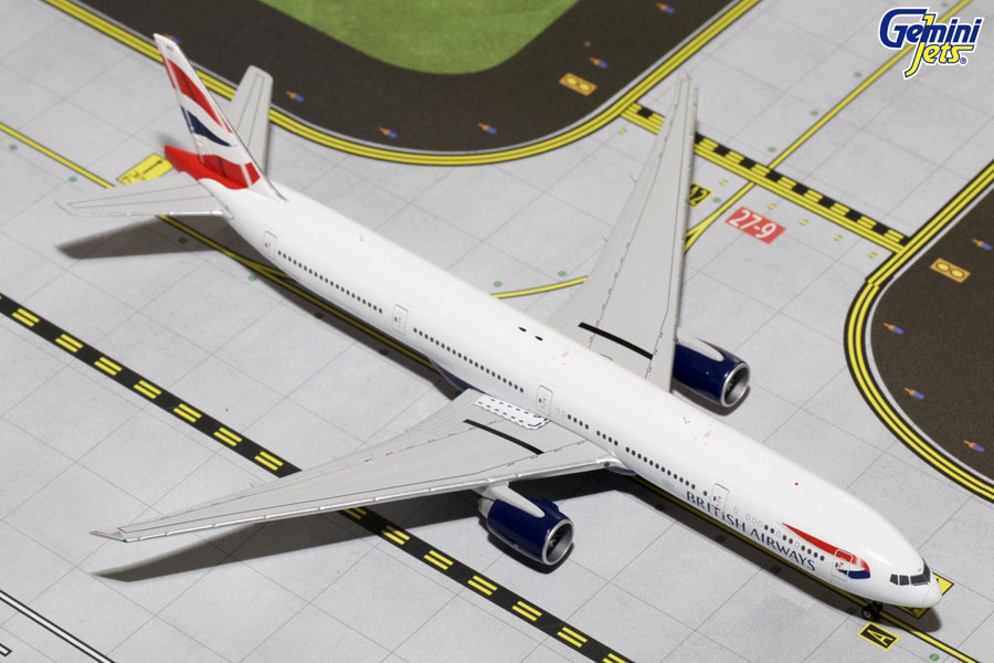 Gemini Jets 1/400 British Airways Boeing B777-300ER G-STGB Aircraft Model GJBAW1365