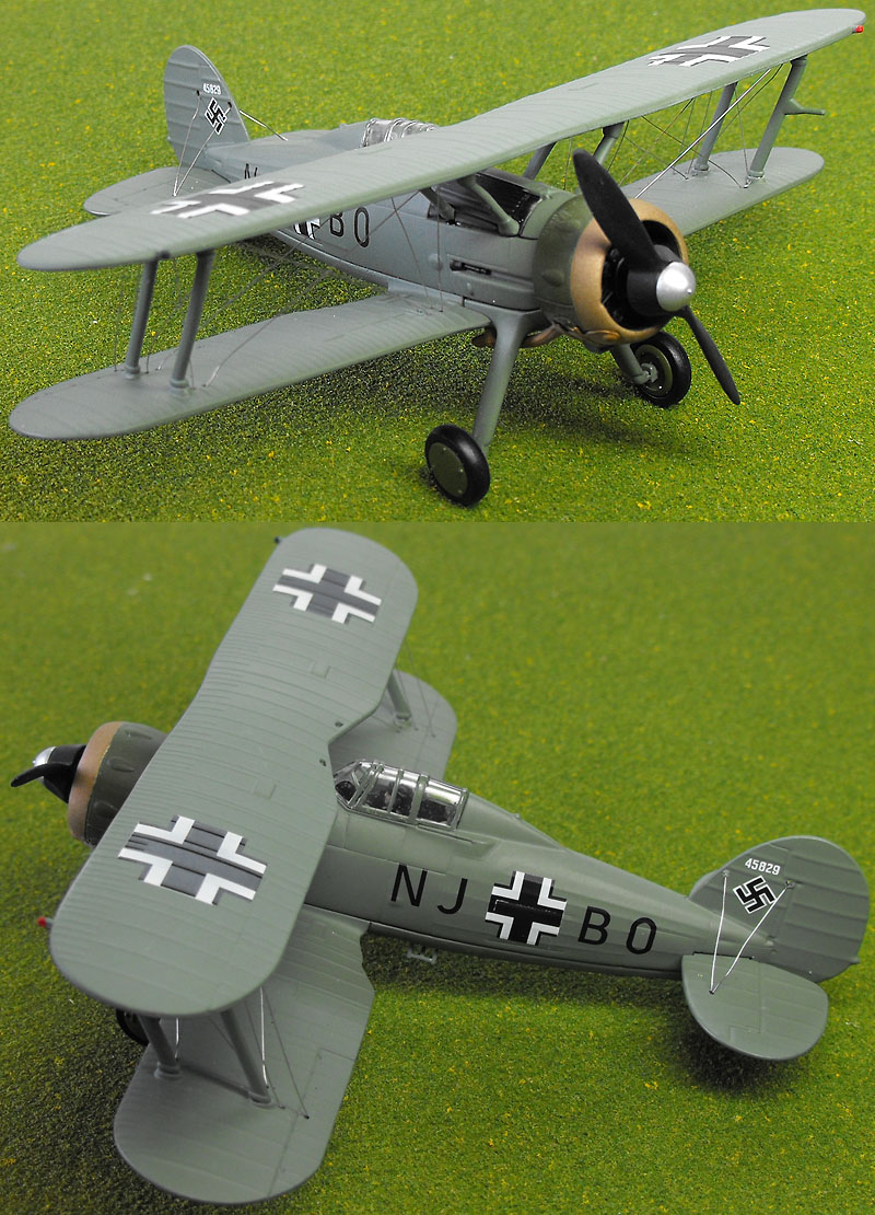 "Corgi AA36208 1/72 Scale Gloster Gladiator Mk1 ""Goerings Gladiator"" Captured by the Luftwaffe 1942/43<br>Wingspan 130mm"