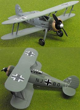 "Corgi AA36208 1/72 Scale Gloster Gladiator Mk1 ""Goerings Gladiator"" Captured by the Luftwaffe 1942/43Wingspan 130mm"