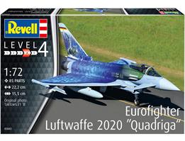 Revell 03843 1/72nd Eurofighter Typhoon Luftwaffe 2020 Quadriga Fighter Kit