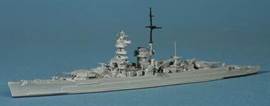 This version is the pocket battleship as she appeared for most of WW2.