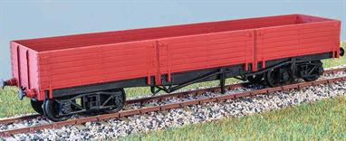 Built in 1930 (repeating a 1921 GNR design), these wagons (diagram 70) carried brick between Peterborough and London. Examples were in use until 1966. These finely moulded plastic wagon kits come complete with pin point axle wheels and bearings.Glue and paints are required to assemble and complete the model (not included).