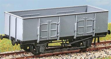 Constructed in the late 1930s, these were a standard design of loco coal wagon (diagram 207). In the 1950s, they were used for general coal traffic and were finally withdrawn in the mid 1960s. These finely moulded plastic wagon kits come complete with pin point axle wheels and bearings.Glue and paints are required to assemble and complete the model (not included)