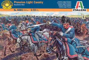 Italeri 1/72 Prussian Light Cavalry Napoleonic Wars 6081Box contains 17 unpainted figures with horses,Paints are required to complete the figures (not included)
