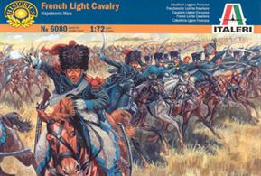 Italeri 1/72 French Light Cavalry Napoleonic Wars 6080Box contains 17 unpainted figures with horses,Paints are required to complete the figures (not included)