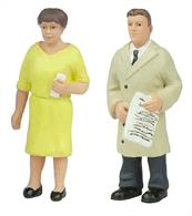 Bachmann 47-410 O Gauge Standing Passengers Pack CPack of 2 standing passenger figures