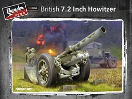 Thunder models 35211 British 7.2inch Howitzer Gun KitGlue and paints are required to assemble and complete the model (not included)