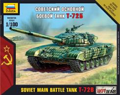 Zvezda 1/100 T-72 MBT Art of Tactic Tank kit 7400