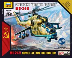 Zvezda 1/144 Mil-24 VP Art of Tactic Helicopter kit 7403