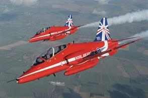 Red Arrows Hawk 50th Anniversary Livery