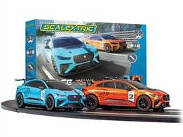 Pitting two of the newest and most advanced electric racing cars against each other, this new set combines all of the age old excitement of Scalextric along with the latest in EV technology.