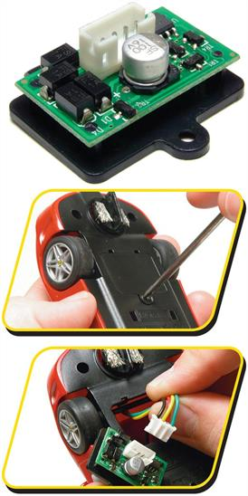 Scalextric C8515 1/32 Digital Plug Chip for DPR Ready Scalextric cars This is a digital chip that can be inserted into the new range of plug enabled cars coming during 2007. It converts a standard car to enable it for use on digital sets.Scalextric DigitalScalextric Digital represents a ground breaking step forward in the way Scalextric is played. Now, with the DIGITAL system, up to six cars can race on one lane*. At the press of a button, drivers can switch lanes for overtaking and blocking!