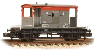 The Graham Farish BR brake van is an excellent miniature replica of these vans. The body is finely detailed, with the end handrails separately fitted to keep them visibly clear of the end ballast weights. This van carries the Railfreight grey and red livery, applied to many of these vans fitted with air brake equipment