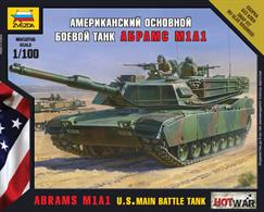Zvezda 1/100 US Abrams M1A1 MBT Art of Tactic Tank kit 7405