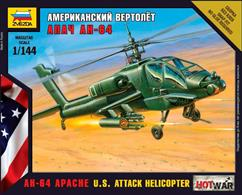 Zvezda 1/144 USAF Apache Helicopter Art of Tactic Kit 7408