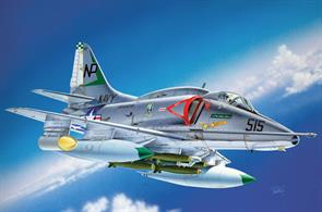 US Navy A-4 E/F/G Skyhawk Jet Aircraft KitGlue and paints are required