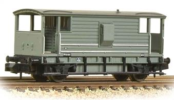 An excellent model of the large LMS good train brake van. These long-wheelbase vans were introduced in the 1930s, providing a much more comfortable ride for the guard as the use of vacuum brakes allowed goods train speeds to be increased.This model is painted in the BR goods grey livery.