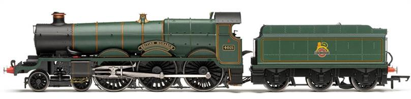 Hornby R3229 OO BR 4021 British Monarch Churchward Star Class 4-6-0 Lined Green Early Emblem