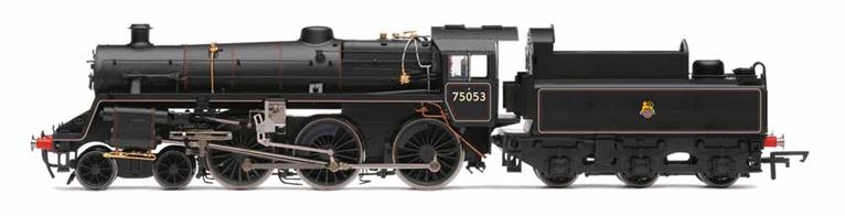 Hornby Railways R3548 OO Gauge BR 75035 Standard Class 4MT 4-6-0 BR Lined Black Livery Early EmblemDimensions - Length 287mm.A detailed model of the British Railways standard class 4MT 4-6-0 locomotive 75035 finished in British Railways mixed traffic lined black livery with early lion over wheel emblem.DCC Ready. 8-pin decoder required for DCC operation.