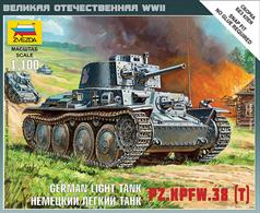 Zvezda 1/100 German Light Tank Pz.KPFW.38t 6130