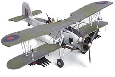 Tamiya 1/48 Fairey Swordfish Mk2 Plastic Aircraft Kit 61099Glue and paints are required