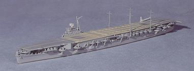 A 1/1250 scale secondhand model of IJNS Unryu a Japanese aircraft carrier built during WW2. This model is an early production model but is in good condition and has a number of aircraft on deck.Only Unryu and Katsuragi of this type were completed before the armistice but they were not used operationally.