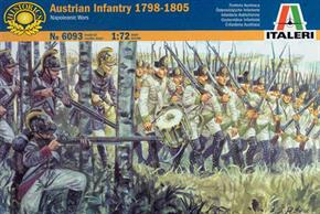 Italeri 1/72 Napoleonic Wars Austrian Infantry 1800-05 6093Paints are required to complete the figures (not included)