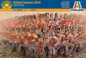Italeri 1/72 Napoleonic Wars British Infantry 1815 6095Paints are required to complete the figures (not included)