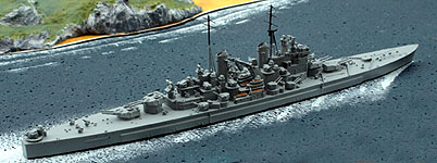 Albatros HMS Vanguard, Battleship 1946-60 Waterline Model Ship 1/1250 Alk300
