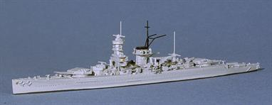 The second pocket battleship to be completed, she was bigger and better than Deutschland and her slightly larger sister Graf Spee appeared almost identical when she joined the fleet. Scheer was soon taken in dockyard hands and given a pole type bridge (see Neptun 1034) in 1940.