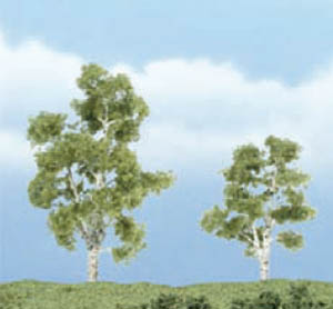 Woodland Scenics Sycamore Premium Trees 2 - 3in Pack of 2 TR1603<br>Woodland Scenics premium trees are carefully sculpted to replicate the distictive features of each tree. The model tree is identifiable by trunk, branch and foliage. Ideal for foreground and feature locations.<br>A large, upright, deciduous tree found growing wild, especially in wet areas. Known for its beautifully mottled bark. Models are 3 in (75mm) tall and 2¼in (55mm) tall.