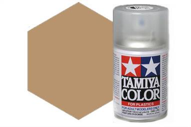Tamiya AS15 USAF Tan Synthetic Lacquer Spray Paint 100ml AS-15Tamiya AS Spray paint, much like�the TS Sprays, are meant for plastic models. These spray paints are specially developed for finishing aircraft models. Each color is formulated to provide the authentic tone to 1/32 and 1/48 scale model aircraft. now, the subtle shades can be easily obtained on your models by simple spraying. Each can contains 100ml of synthetic lacquer paint.