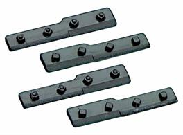 12 cosmetic fishplates (rail joiners) to use at joints between Code 124 and Code 143 rails.