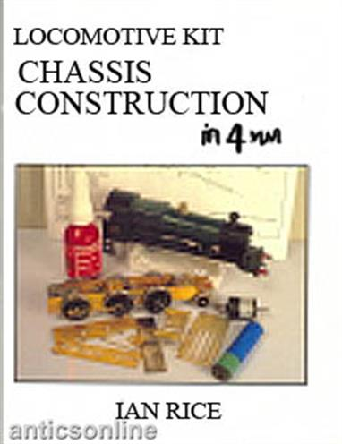 A 158-page book covering the construction of 4mm scale locomotive chassis for many different types of locomotive. All parts of the chassis are dicussed and described with major points illustrated with photographs and clear diagrams. Solid chassis designs start the book, then bogie and pony trucks are introduced, including tips of ensuring your model locomotive remains well balanced and able to negotiate changes of curve and grade. Iain then moves on to describe compensation methods before rounding out the book with a description of chassis deatiling, including cylinders and valve gear.