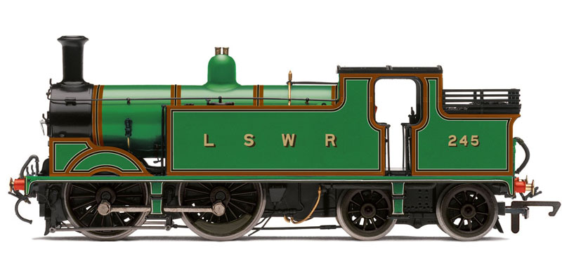 Hornby LSWR 245 M7 Class 0-4-4T LSWR Livery NRM Collection OO R3204
