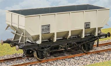 British Railways produced a range of standard wagon designs with the objective of improving load capacity and handling. Based on the late LNER design steel hopper wagons  the 21 ton coal hopper was one of the longest lasting designs with many wagons still in service up to the miners strike in the 1980s. The kit builds a model of a non-vacuum fitted wagon with a choice of plain or roller bearing axleboxes and transfers for early, late (boxed) and TOPS lettering.Supplied with metal wheels and 3 link couplings.