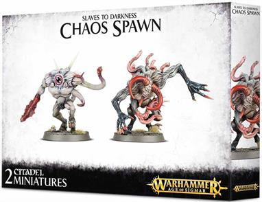 This multi-part plastic kit contains two wretched Chaos Spawn, featuring a wide variety of optional parts for customisation and personalisation!Supplied with two Citadel 50mm Round bases.