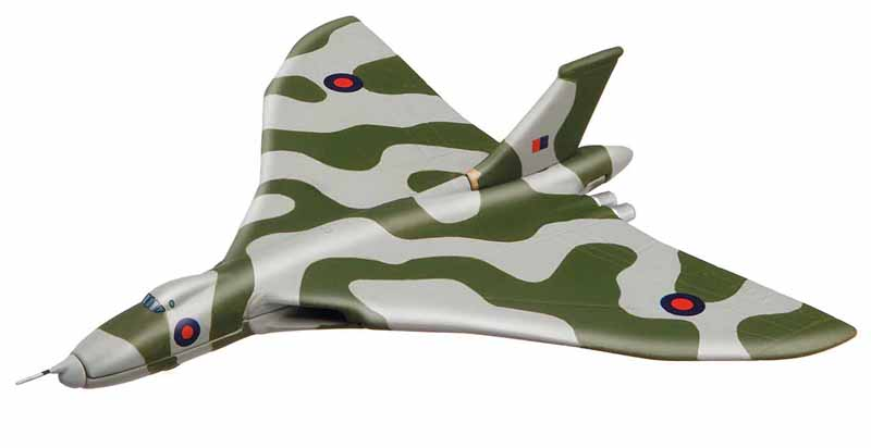 "The  Avro Vulcan Bomber from the Showcase Collection CS90617 is a quality die-cast model aircraft suitable for the younger collector.<br><span class=""yui-non""> </span><br> Wingspan 98mm"