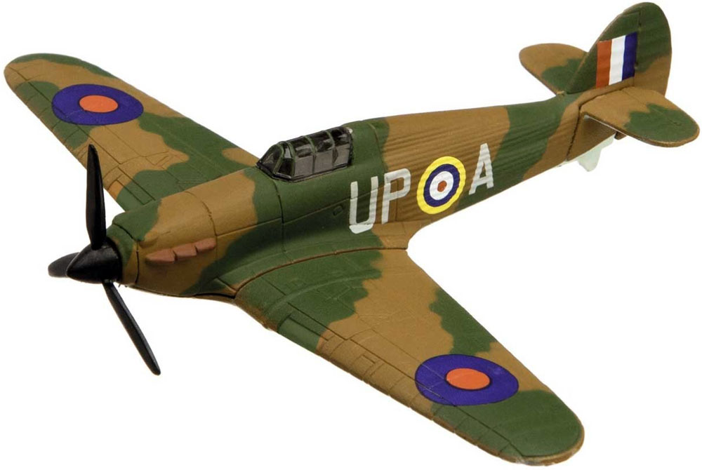 CS90620 Corgi Showcase model of the Hawker Hurricane, painted as one of the Hurricanes flying with the Battle of Britain Memorial Flight is a quality die-cast model aircraft suitable for the younger collector. Wingspan 106mm