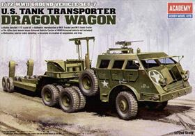 Academy 1/72 M26 Dragon Wagon US Tank Transporter 13409Glue and paints are required to assemble and complete the model (not included)