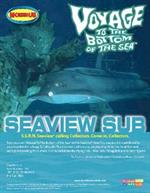 "Moebius 1/128 Voyage to the Bottom of the Sea Seaview Sub Plastic Kit 707This model is 39"" long and comes with a flying sub, minisub, Diving Bell & 4 Crew FiguresGlue and paints are required to assemble and complete the model (not included)"