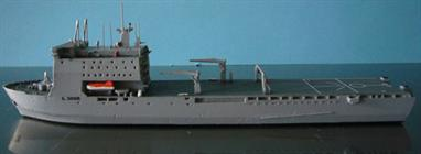 An impressive Albatros diecast metal waterline model of the RFA Largs Bay L3006 Landing ship that went to Australia and is now HMAS Choules!